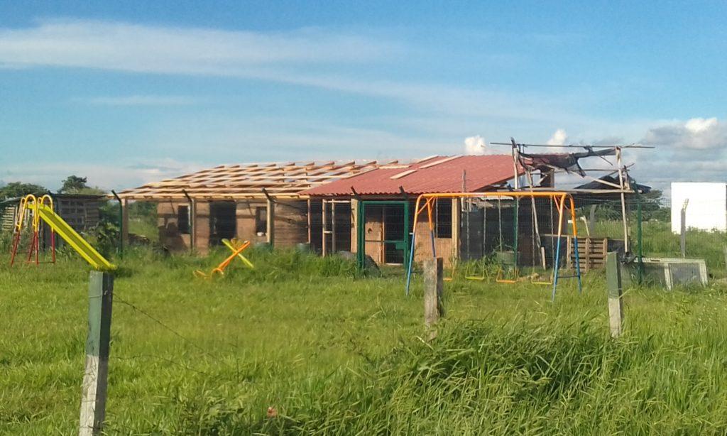 Roof on Hyperadobe build