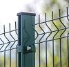 green metal fence